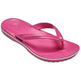 Crocs Crocband Flache Sandalen paradise pink/white